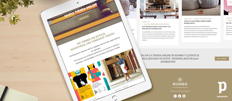 Web Rumbo - Pantumaka Agencia de Publicidad en Murcia