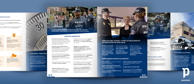 Folleto para la Policia Municipal de Murcia - Pantumaka Agencia de Publicidad en Murcia