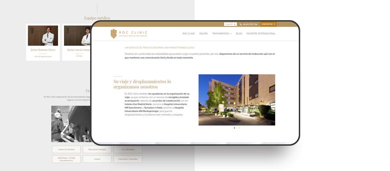 Roc-clinic-urologia-madrid-web-Pantumaka-Agencia-de-Publicidad-Murcia